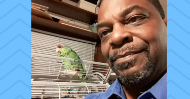 david and raz the parrot